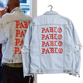 Kanye West Pablo Denim Jackets Men The Life Of Pablo kanye Brand Clothing Streetwear Jeans Jackets I Feel Like Kanye 2 Color 796