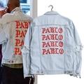 Kanye West Pablo Denim Jackets Men The Life Of Pablo kanye Brand Clothing Streetwear Jeans Jackets I Feel Like Kanye 2 Color 796