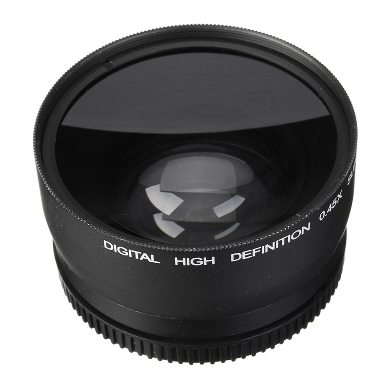 58MM 0.45x Wide Angle Macro Lens for Canon EOS 350D/ 400D/ 450D/ 500D/ 1000D/ 550D/ 600D/ 1100D Camera Lens New Arrival