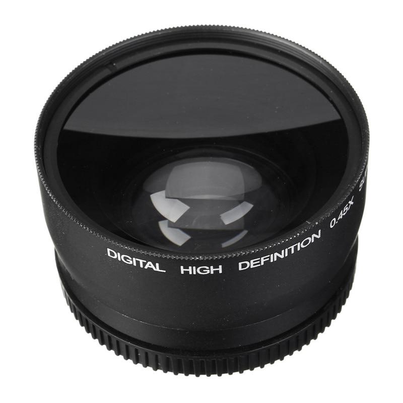 58mm 0.45x wide angle lens macro per canon eos 350d/400D/450D/500D/1000D/550D/600D/1100D Fotocamera Lens Nuovo arrivo