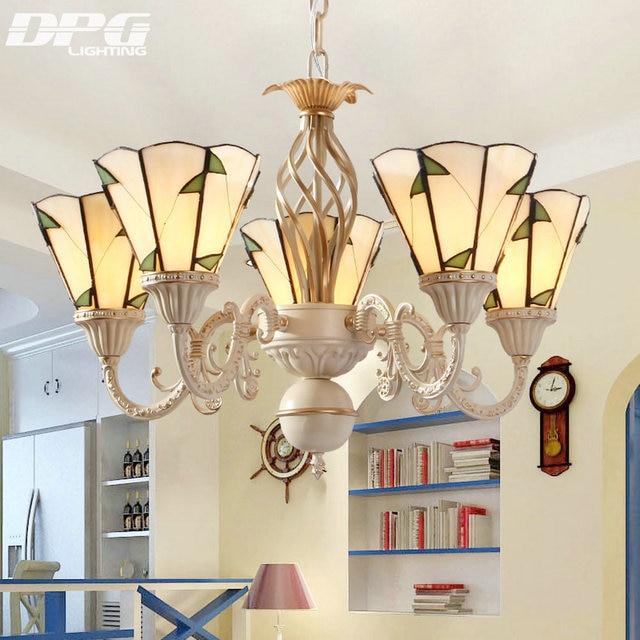 Modern Stained Glass Flush Mount Chandeliers Tiffanylamp Vintage Lamp Lighting Led Ceiling With E27 110v 220v