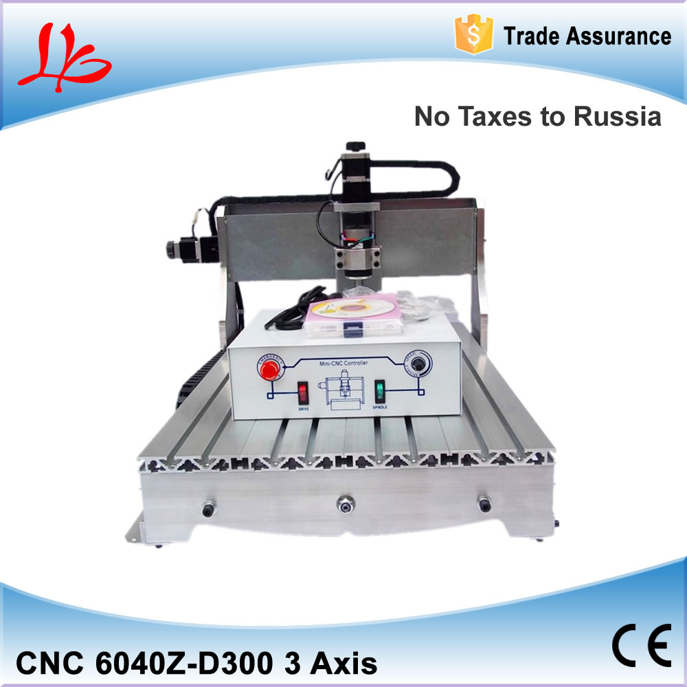 Mini CNC router 6040 Z-D300 milling machine, 300W spindle cnc engraver, free tax to Russia 6040z vfd 2 2kw usb 4axis 6040 cnc milling machine mini cnc router with usb port russia free tax