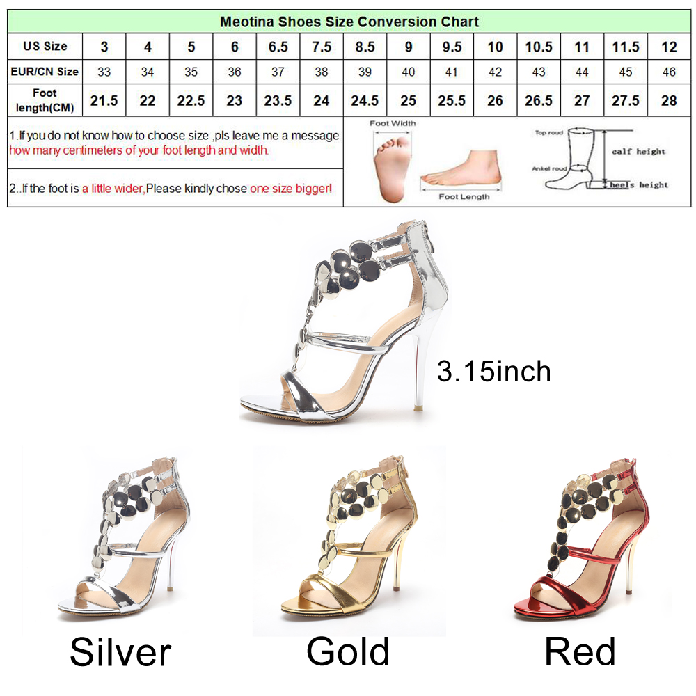 Meotina ladies shoes 2018 summer gladiator sandals women high meotina ladies shoes 2018 summer gladiator sandals women high heels sandals party wedding shoes glitter gold ladies sandals 43 in high heels from shoes on geenschuldenfo Choice Image