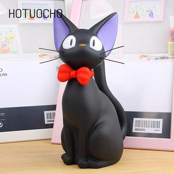 Hotuocho czarny kot skarbonka figurki zwierząt skarbonka zwierząt skarbonka Home Decor nowoczesny styl skarbonka figurki dzieci prezent tanie i dobre opinie sh323 Winylu ROUND