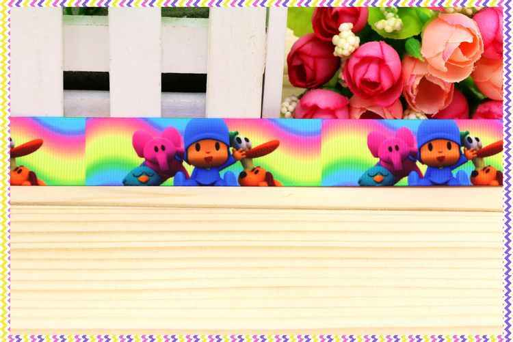 7/8 ''Frete grátis pocoyo impressa fita de gorgorão headwear cabelo arco diy decoração do partido por atacado OEM 22mm B1039