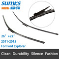"Wiper blades for Ford Explorer (2011-2015) 26""+22"" fit pinch tab type wiper arms only HY-017"