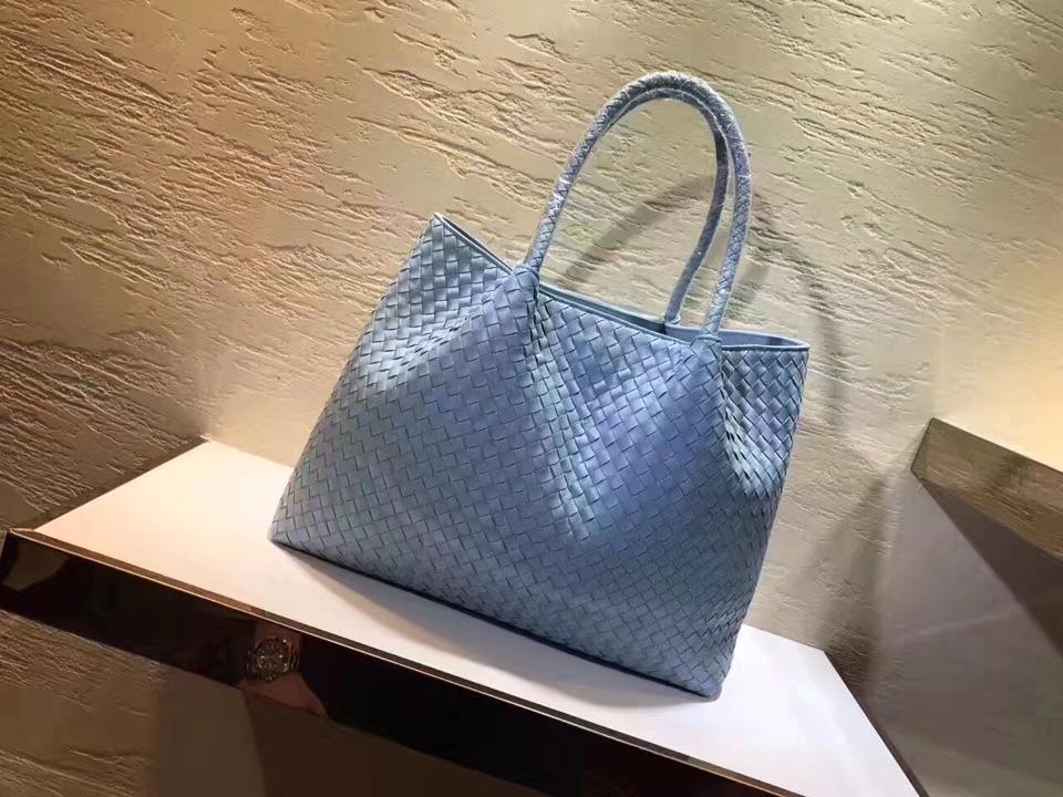 Women Handbag Genuine Leather Lambskin Soft Knitted Female Shoulder Carry Tote Shopping Purse Bag Set Luxury Brand Designer  2
