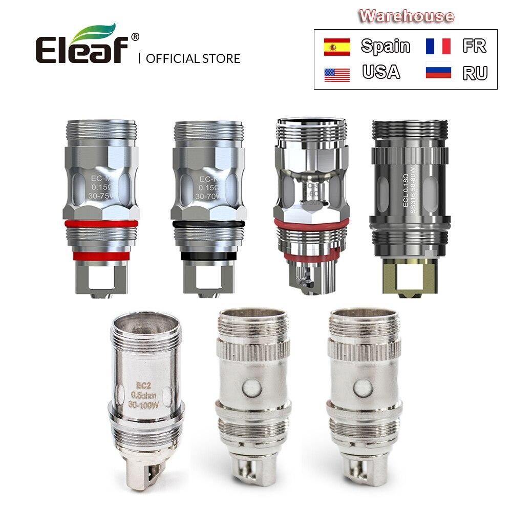 5/10 PCS Original Eleaf EC tête EC-M/EC-S 0.3ohm/0.5ohm bobine pour iJust 2/iJust S/Melo 3 bobine iJust2 EC tête Cigarette électronique
