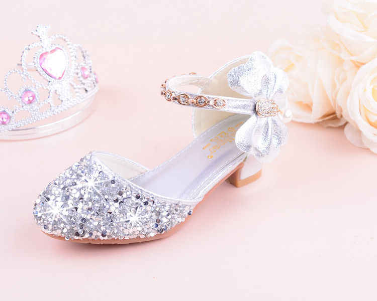 6010c130e007 ... New Children Princess Beading Sandals Kids Flower Wedding Shoes High  Heels Dress Shoes Party Shoes for ...