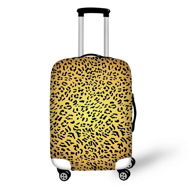 30-32 inch 88NIUHULU Leopard Grain Travel Luggage Case Cover Protector Cool Prints Multi Size fit Protective Trolley white xl