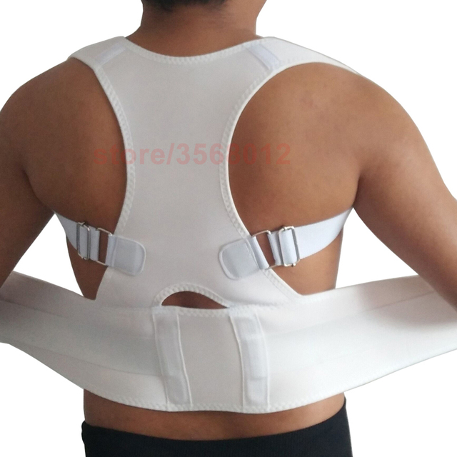 2018 Belly Sweat Belt Posture Brace Shoulder Lumbar Support Lower Back Corrector Men