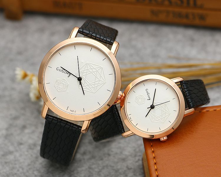 Hot Sales Gogoey Brand leather rose gold Pair watches women men Couple fashion dress quartz wristwatch go142-2Hot Sales Gogoey Brand leather rose gold Pair watches women men Couple fashion dress quartz wristwatch go142-2
