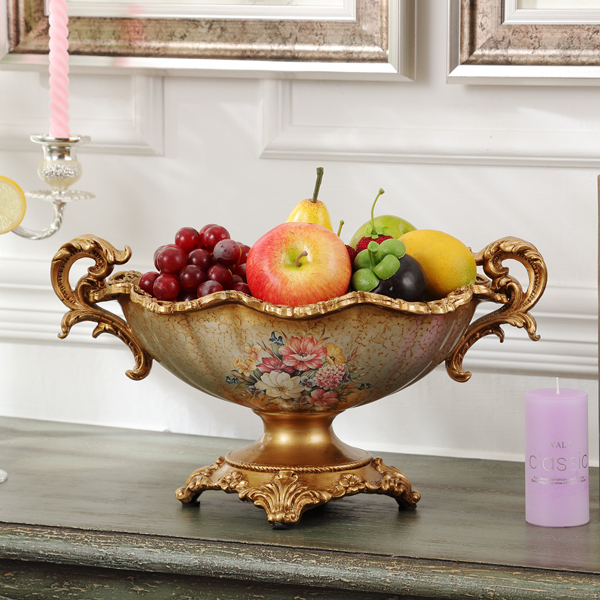 Fruit Plate Decoration Home Furnishing Living Room Coffee Table Ornaments Ears Compote American Retro Bowl