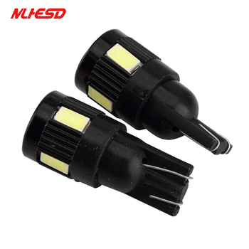 100x High power led car light t10 6smd 5630 5w5 DC 12-24V non-polar t10 Aluminum Bulbs Side Marker Parking Lightn Width Lamp Led