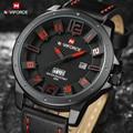Top de Luxo Da Marca NAVIFORCE Homens Moda Relógios de Quartzo Analógico Relógio de Couro Rosto 3D Homem Sports Relógios Militar Do Exército relógio de Pulso