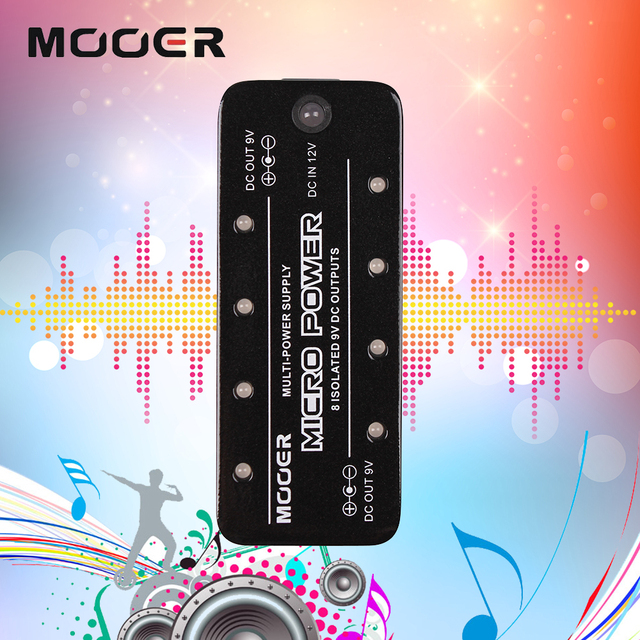 Mooer Micro Power Output Maximum Current 300mA Single Guitar Effect Pedal Power Supply With 8 Ports Isolated