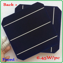 цена на 10 Pcs 64W 156MM Double-sided Monocrystalline Silicon Solar Cell New high efficiency Grade A For DIY Solar Panel