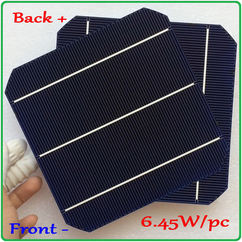 6.45W/pc mono solar cell Newest Double-side 156mm Monocrystalline Mono Silicon Solar Cell New high efficiency Grade A high efficiency amorphous silicon thin film solar cells