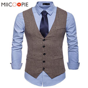MIICOOPIE Suit Vest Formal Dress Vest Wedding Waistcoat Men