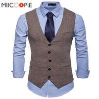 Mode costume Gilet hommes robe formelle Gilet Colete Masculino chevrons Gilet Fitness sans manches veste mariage Gilet hommes XXL