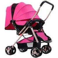 Высокое качество складная дорожная Детские коляски Легкий перевозки Багги коляска для новорожденных тележка с летом и зимой