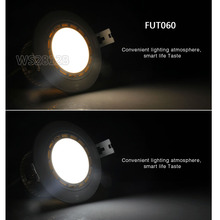 FUT060/FUT068 Milight Dual White/RGB+CCT LED Downlight 6W Led panel light dimmable AC86-265V &FUT092/FUT005 remote