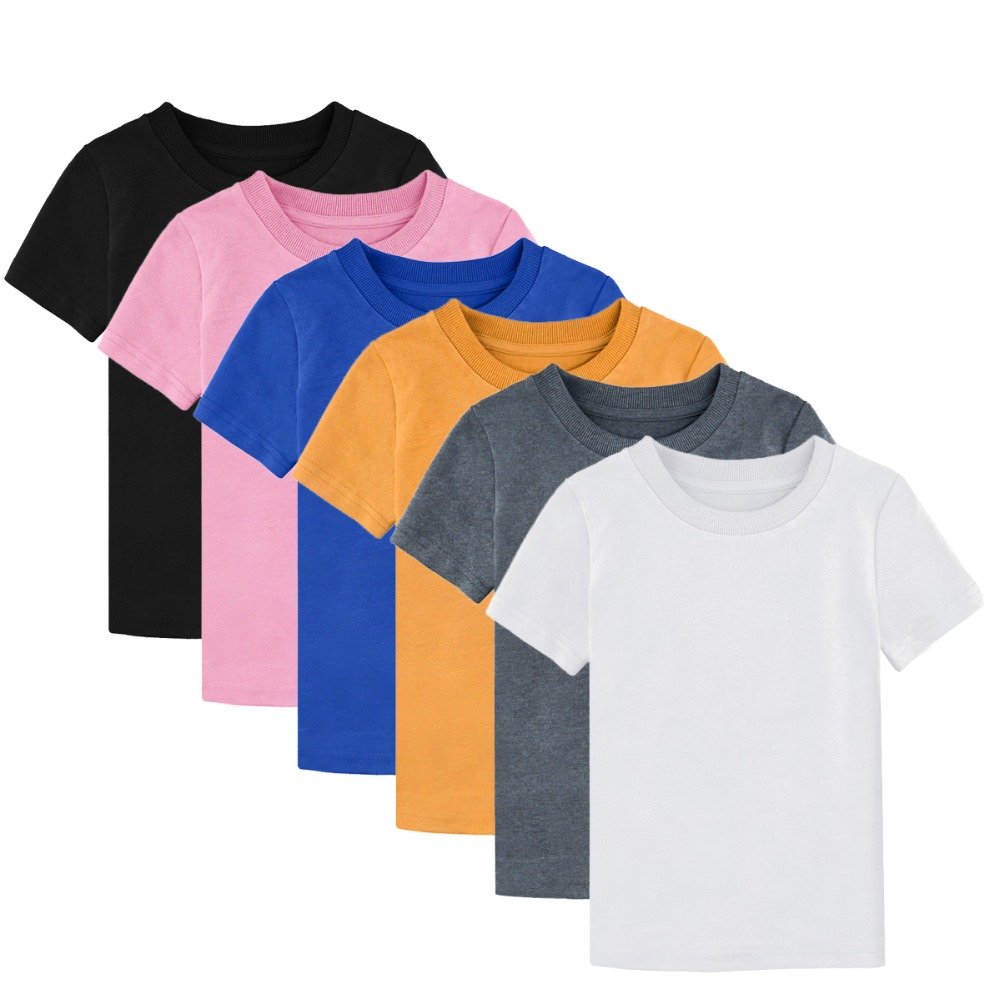 A/&J DESIGN Toddler /& Kids Heavyweight Cotton T-Shirt Variety of Colors