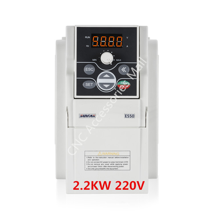 Original NEW SUNFAR AC220V Frequency Inverter E550-2S0022B VFD Inverter 2.2kw E550 1000HZ with RS485 interface, support MODBUS