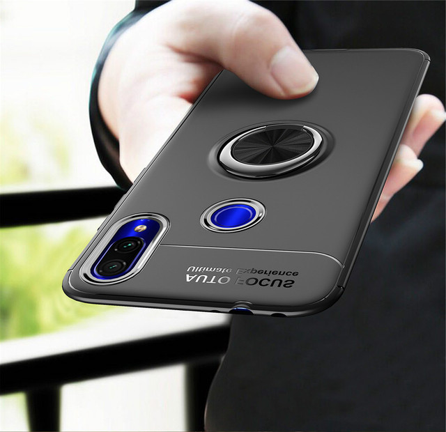 For Samsung Galaxy M10 M20 A10 A30 A40 A50 A70 Case Colorful Metal Magnetic Ring Holder Soft Silicone TPU Luxury Cover