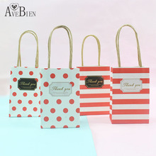AVEBIEN 20pcs Wedding Decoration Birthday Decoration Paper Gift Bag for Jewelry Mini Gift Bag with Handles Event Party Supplies