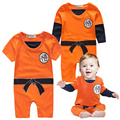 Baby Romper Long Sleeve Cotton Baby Goku Costume New Born Baby Boy Clothes O-neck Character Orange Colour Infant Romper