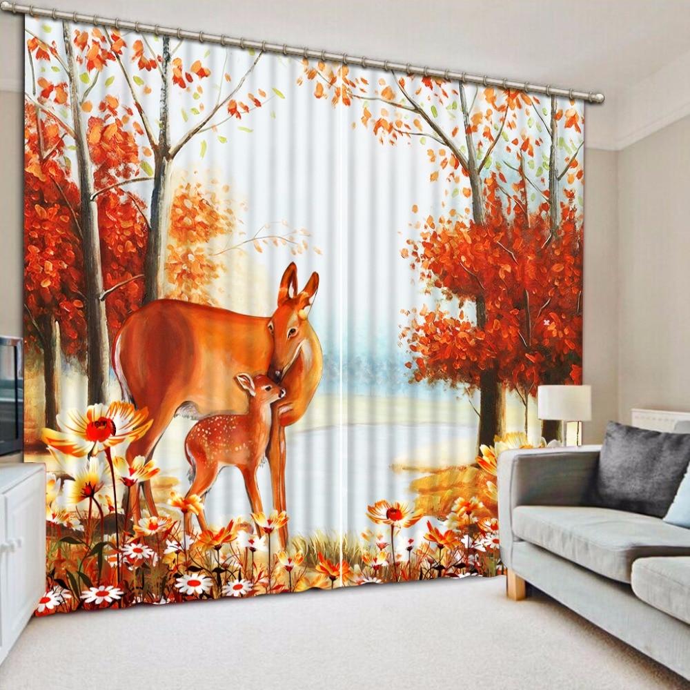 Moderne Benutzerdefinierte Vorhang Foto baum landschaft 3D Fenster ...