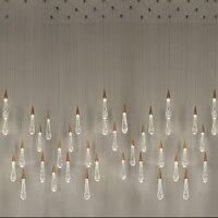 Золото капли воды пузырь кристалл Творческий подвесной светильник европейском стиле роскошные светодиодный лампы Стекло Освещение в поме