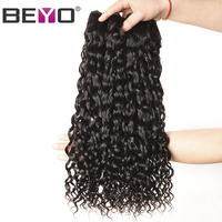Beyo Water Wave Peruvian Hair Weave 1 Piece Non Remy Hair Natural Color 100 Human Hair