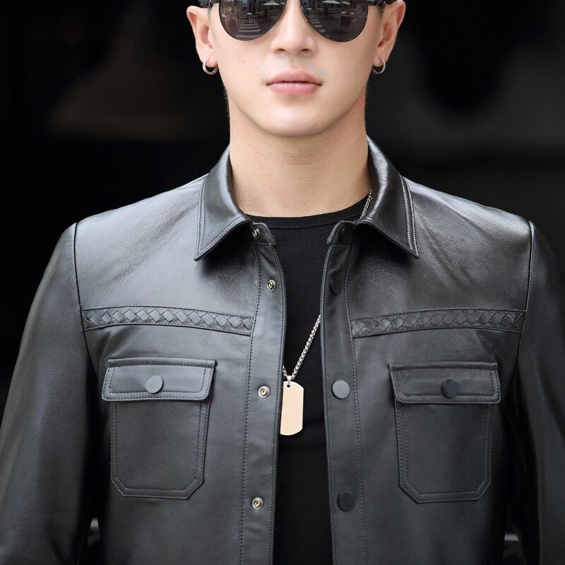 Bomber Black Più Breve Il Yolanfairy Outwear Genuino Moto Mf418 Slim Pecora  Formato Cappotti In Streetwear 5xl Giacca Uomini Di Pelle wqHq5xCO c177e39f257