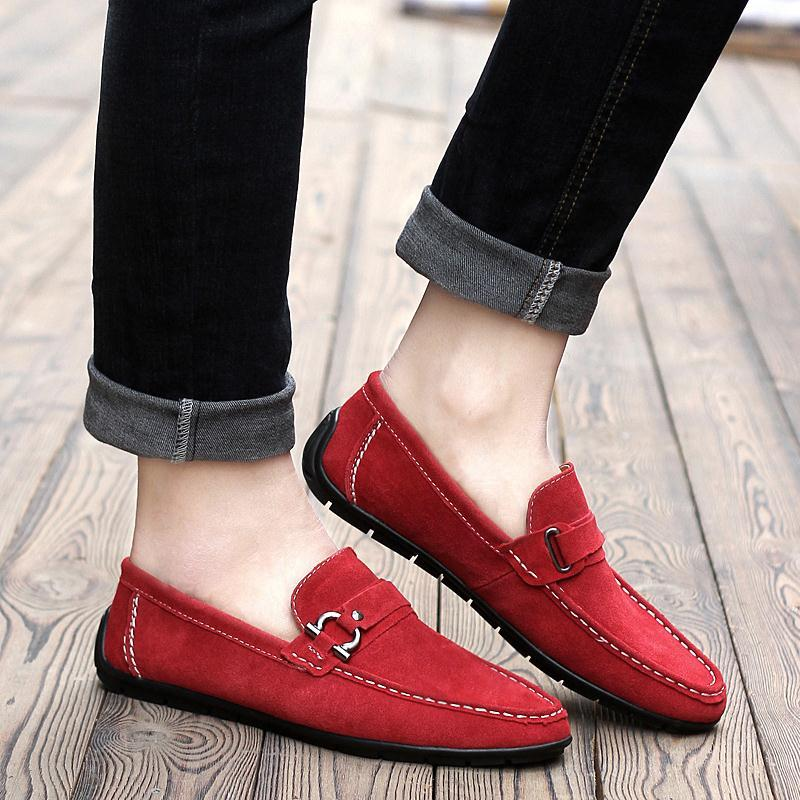 Red Suede Loafers Buy Online For Men