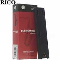 RICO Plasticover Tenor Bb saxo lengüeta 2,5 #, 3,0 #, 3,5 # caja de 5 tenor saxphone lengüeta