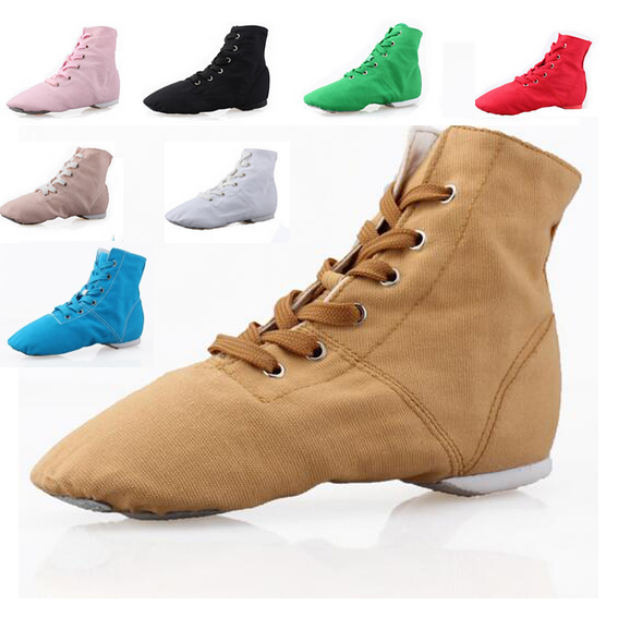 New 2017 Men Women Sports Dancing Sneakers Jazz Dance Shoes Lace Up Dancing Boots Blue Red Black Tan Green White