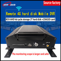 Factory sales SD card + hard disk coaxial HD 8 channel AHD960P HD pixel monitoring 4G GPS MDVR transport car / taxi / bus