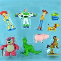 9Pcs Set Toy Story John Lasseter Buzz Lightyear Woody Jessie Lotso Hamm Little Green Men Squeeze