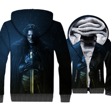 hipster Game of Thrones brand sweatshirts thicken long sleeve jackets men 2019 winer hip-hop 3D Printed clothing man