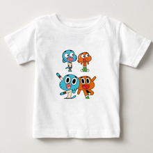 The Amazing World Of Gumball Cartoon children T Shirt boys O Neck Tshirts 2018 Fashion girl t summer t-shirt  NN