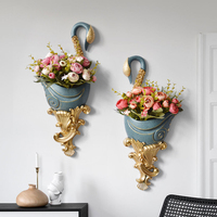 luxury Resin Wall Vase for home decor wall vase holder Swan Statue shape art hanging wall vase wedding decoration wall décor