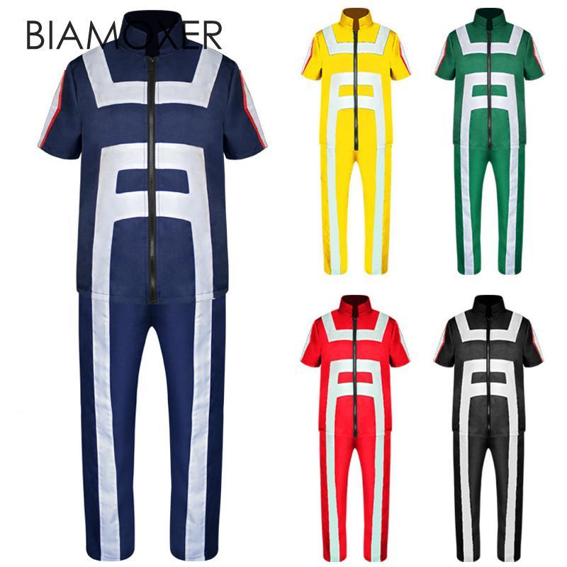 Biamoxer Аниме Boku без герой Академии Все роли тренажерный зал костюм высокого школьная Униформа спортивная одежда наряд аниме Косплэй мой герой Академии