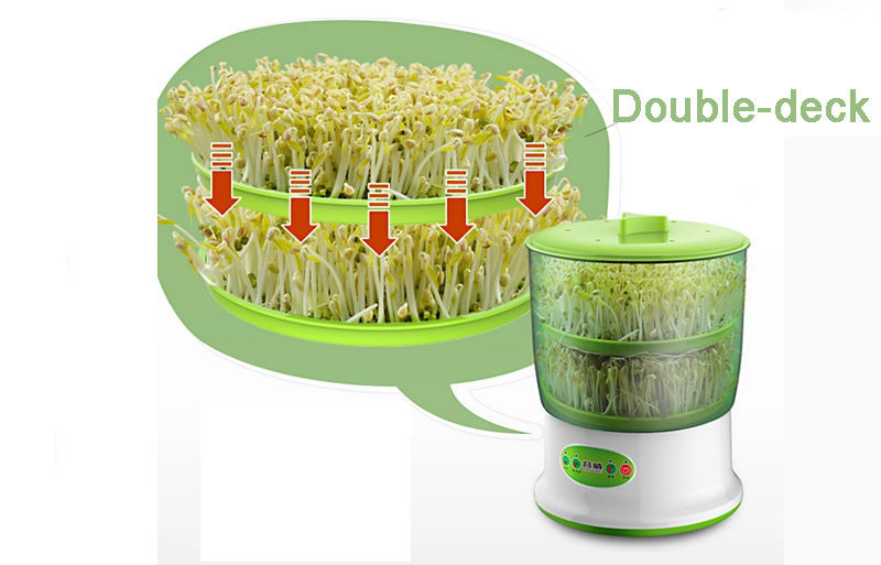 Bean Sprout Machine 220V Intelligence Home Use Bean Sprout Machine - Peralatan berkebun - Foto 4