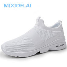 MIXIDELAI Spring/Autumn New models men shoes 2019 fashion comfortable youth casual shoes For Male soft mesh design lazy shoes