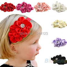 Baby Girls Chiffon Headband Hairbow Hairband Head Hair Band Flower Take Photo Beauty Accessories hot Selling Wholesale 1NZY