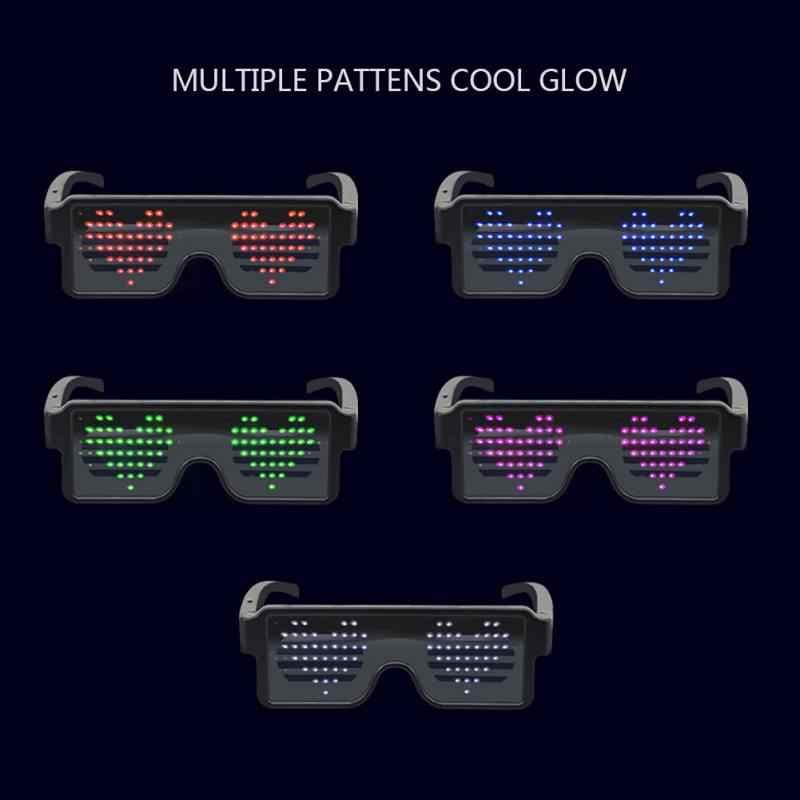 310ed28782 Nuevo 8 modos rápida Flash LED gafas de carga USB luminoso gafas Navidad  Fiesta suministros concierto