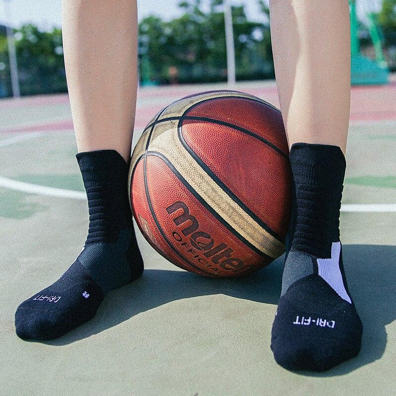 Morewin Men's Basketball Socks Women Outdoor Sports Socks Knee-High Fitness Hiking Jogging Sport Socks Breathable Cycle Sock