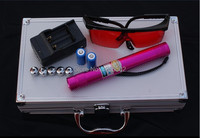 AAA 500000m 5in1 Strong Military Blue Laser Pointer Burn match candle lit cigarette Wicked Lazer Torch Watt+Glasses+Gift Box